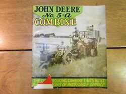 Vintage John Deere Tractor Sales Brochure No 5-a Combine W Fold Out Poster Rare