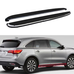 Fit For Acura Mdx 2015-2020 Black Running Board Side Pedals Foot Pedal Trim 2pcs