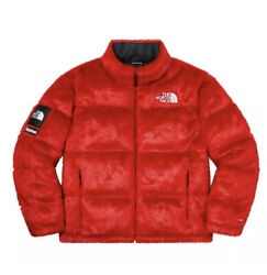 Supreme Faux Fur Nuptse Jacket Red Small In Hand
