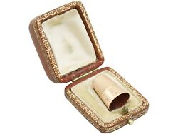 Antique 9 Ct Yellow Gold Thimble France 1900s