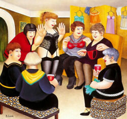 Beryl Cook Party Girls. Limited Edition Print