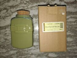 Longaberger Rare Lot Of Four Spice Jars Sage Green In Boxes Mint Free Shipping