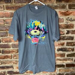 Anvil Gray Dj Turn Table Graphic T-shirt Size Large