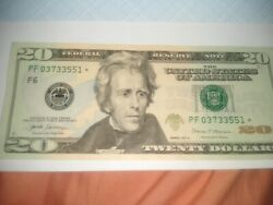 Rare 2017a 20 Note Low Serial And Fanncy Serial And Slightly Off Centered