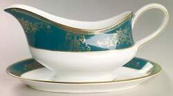 Wedgwood Agincourt Blue Gravy Boat And Underplate 776975