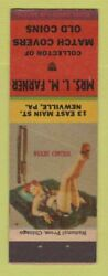 Matchbook Cover - Lm Farner Match Collector Newville Pa Pinup
