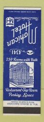 Matchbook Cover - Mohican Hotel New London Ct