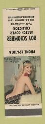 Matchbook Cover - Roy Schomber Match Collector Milwaukie Or Pinup