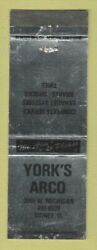 Matchbook Cover - Yorkand039s Arco Oil Gas Sidney Oh Wear