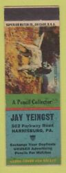 Matchbook Cover - Jay Yeingst Match Collector Harrisburg Pa Wwii Wear