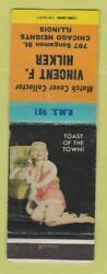 Matchbook Cover - Vincent Hilker Match Collector Chicago Heights Il Pinup Wear