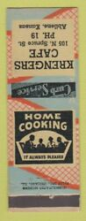 Matchbook Cover - Krengers Cafe Abilene Ks