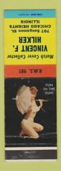 Matchbook Cover - Match Collector Vincent Hilker Chicago Heights Il Pinup Wear