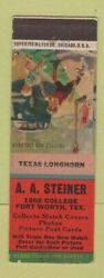 Matchbook Cover - Aa Steiner Fort Worth Tx Match Collector