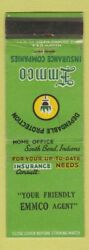 Matchbook Cover - Emmco Insurance South Bend In Wear