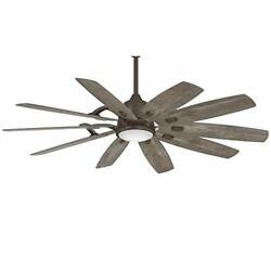 Minka-aire F864l-/sg Barn 65 Smart Ceiling Fan With Led Light And Dc Motor In R