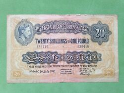 Banknote From East Africa Currency Board 20 Shillings Or 1 Pound 1941 Nairobi