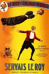 Magic Magician Le Roy Illision Levitation Mystery Vintage Poster Repro Free S/h