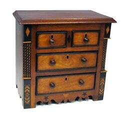 Antique Mid 19th Century North Wales Apprentice Table Cabinet