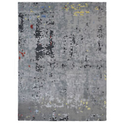 Hand Knotted Bamboo Silk Abstract Gray Bbh Homes Bbnws121