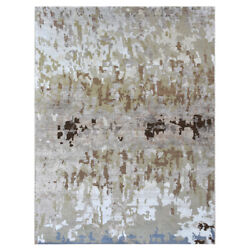 Hand Knotted Bamboo Silk Abstract Beige Bbh Homes Bbnws120