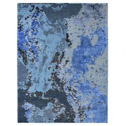 Hand Knotted Bamboo Silk Abstract Multicolor Bbh Homes Bbnws117