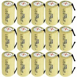 2200mah Sub C Nicd Battery 10c Discharge Rate For Power Tools 1.2v Flat