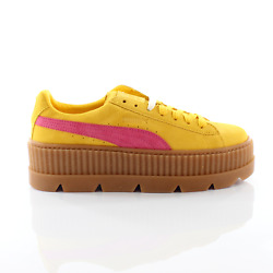 Fenty By Rihanna Cleated Creeper Lace Up Suede Womens Trainers 366268 03