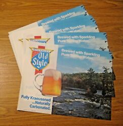 50 Nos Vintage 1982 Old Style Beer Advertising Place Mats Signs La Crosse Wis.