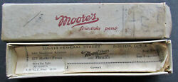 Moore's Fountain Pen Box And Instructions Only