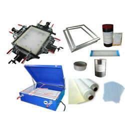 Top Grade Manul Screen Stretcher And Exposure Unit Exposing And Stretching Kit New
