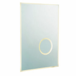 Wall Light Ip44 - Mirrored Glass And Silver Paint - 28w Led - Bulb Included
