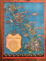 1930s Vintage Territory Of Hawaii Usa Souvenir Poster By Ruth Taylor White Rare