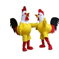 Rooster Mascot Costume Halloween Christmas Funny Animal Cosplay Adult Costume