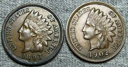 1893 1902 Indian Cent Penny ---- Stunning Condition Lot ---- L684