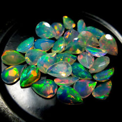 Gtl Certified Natural Opal Ethiopian 3x5mm To 8x12mm Pear Faceted Cut