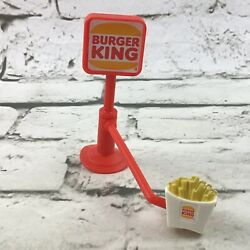 Burger King Sign Rotating French Fries Suction Cup Drive Through Toy