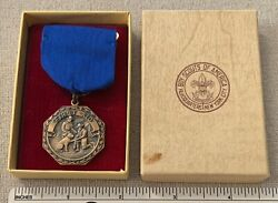 Vtg 1953 First Aid Boy Scout Contest Award Medal 3rd Place Chicago Council 848