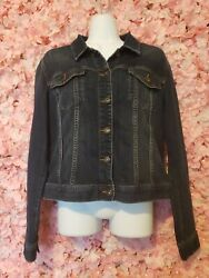 Womens Demin Jacket Melrose And Market Size Medium Blue Dark A Little Washed Out