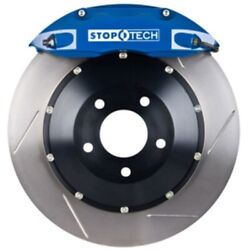 Stoptech 83-135002g21 Rear Big Brake Kit 345mm X 28mm 2 Piece Slotted Rotors Blu