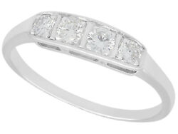 Antique 0.35 Ct Diamond And 14carat White Gold Dress Ring 1930s