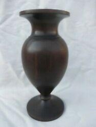 Superb Heavy Good Sized Turned Antique Early 19th Cent Rosewood Vase As25