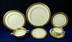 99-piece Set Of Golden Pewter Pattern Porcelain/china By Tradition