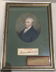 James Monroe - Ink Signature In Pristine Condition - 5th United States President