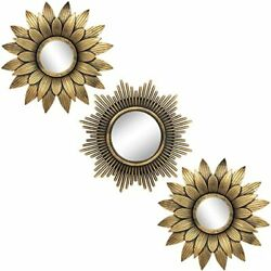 Small Round Mirrors for Wall Decor Set of 3 for Bedroom Living Room
