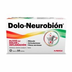 Dolo Neurobion - Pain Relief And Vitamins - 10 Tabletas Fast Shipping