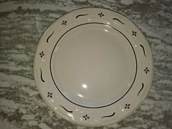 Longaberger Rare Traditional Red Pottery Dinner Plate Mint Free Shipping