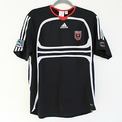 Dc United 2006 Adidas Black And White Soccer Team Authentic Jersey - Youth Xl