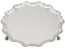 Antique Sterling Silver Salver Mappin And Webb Ltd Sheffield - 1900-1940 1555g