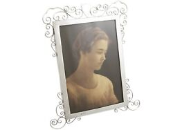 Antique Edwardian Sterling Silver Photo Frame Height 28cm